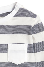 Long-sleeved T-shirt - Dark grey/Striped -  | H&M 2
